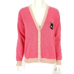Forever 21 x Sanrio Chococat Pink Cardigan XL
